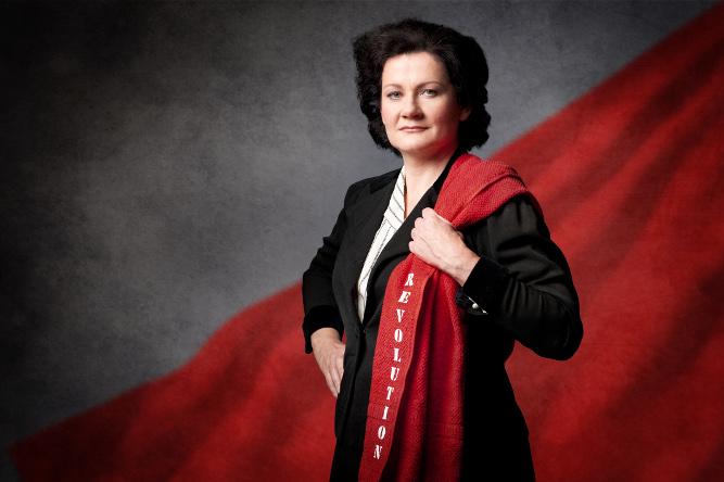 Anita Zieher als Rosa Luxemburg (Foto: © Reinhard Werner)
