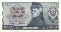 Bertha von Suttner auf 1000-Schilling-Banknote