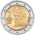 Bertha von Suttner auf 2-Euro-Münze